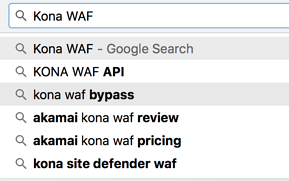 The second search result is how to bypass a popular CDN-based WAF